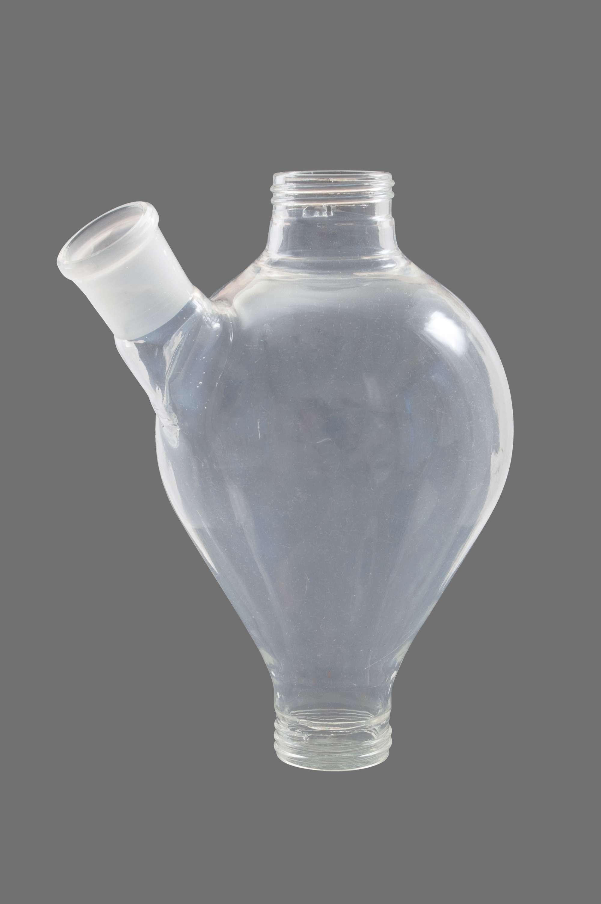 5811-s Silikonbeschichtetes Glasgefäss mit Seitenstutzen (ca. 1 l)
